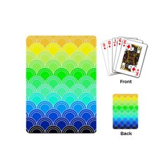 Art Deco Rain Bow Playing Cards (mini)  by 8fugoso