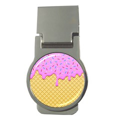 Strawberry Ice Cream Money Clips (round)  by jumpercat