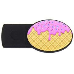 Strawberry Ice Cream Usb Flash Drive Oval (2 Gb) by jumpercat