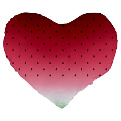 Watermelon Large 19  Premium Heart Shape Cushions by jumpercat