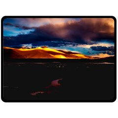 India Sunset Sky Clouds Mountains Double Sided Fleece Blanket (large)  by BangZart