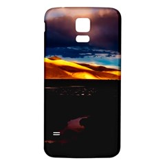 India Sunset Sky Clouds Mountains Samsung Galaxy S5 Back Case (white) by BangZart