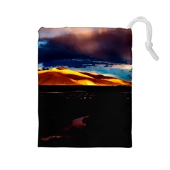 India Sunset Sky Clouds Mountains Drawstring Pouches (large)  by BangZart