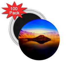 Crater Lake Oregon Mountains 2 25  Magnets (100 Pack)  by BangZart