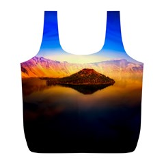 Crater Lake Oregon Mountains Full Print Recycle Bags (l)  by BangZart