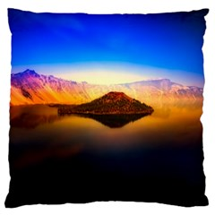 Crater Lake Oregon Mountains Standard Flano Cushion Case (two Sides) by BangZart