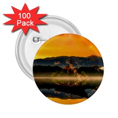 Bled Slovenia Sunrise Fog Mist 2 25  Buttons (100 Pack)  by BangZart