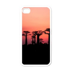 Baobabs Trees Silhouette Landscape Apple Iphone 4 Case (white)