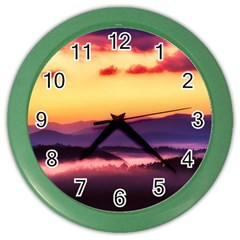 Great Smoky Mountains National Park Color Wall Clocks by BangZart