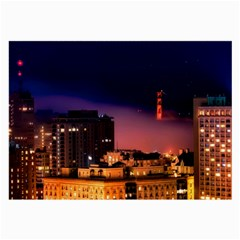San Francisco Night Evening Lights Large Glasses Cloth (2 Side) by BangZart