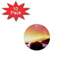 California Sea Ocean Pacific 1  Mini Buttons (10 Pack)  by BangZart