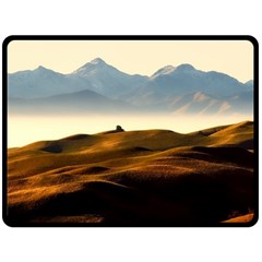 Landscape Mountains Nature Outdoors Double Sided Fleece Blanket (large)  by BangZart