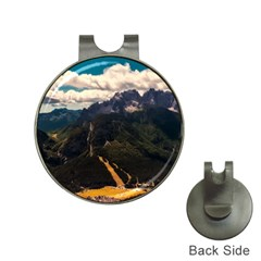 Italy Valley Canyon Mountains Sky Hat Clips With Golf Markers