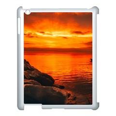 Alabama Sunset Dusk Boat Fishing Apple Ipad 3/4 Case (white) by BangZart