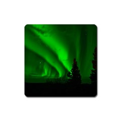 Aurora Borealis Northern Lights Square Magnet by BangZart