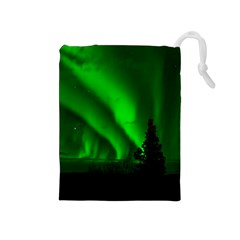 Aurora Borealis Northern Lights Drawstring Pouches (medium)  by BangZart
