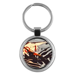 Iceland Landscape Mountains Snow Key Chains (round)