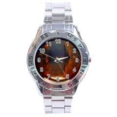 River Water Reflections Autumn Stainless Steel Analogue Watch by BangZart