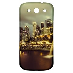 Singapore City Urban Skyline Samsung Galaxy S3 S Iii Classic Hardshell Back Case by BangZart