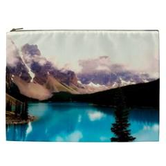 Austria Mountains Lake Water Cosmetic Bag (xxl)