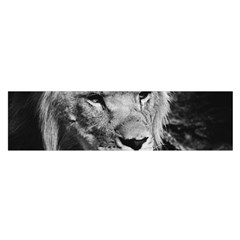 Africa Lion Male Closeup Macro Satin Scarf (oblong) by BangZart