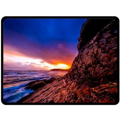 South Africa Sea Ocean Hdr Sky Double Sided Fleece Blanket (large)  by BangZart