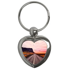 Iceland Sky Clouds Sunset Key Chains (heart)  by BangZart