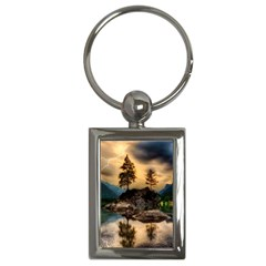 Sunset Dusk Sky Clouds Lightning Key Chains (rectangle)  by BangZart