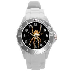 Insect Macro Spider Colombia Round Plastic Sport Watch (l)