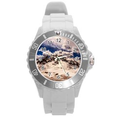 Italy Landscape Mountains Winter Round Plastic Sport Watch (l) by BangZart