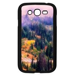 Landscape Fog Mist Haze Forest Samsung Galaxy Grand Duos I9082 Case (black) by BangZart