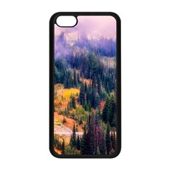 Landscape Fog Mist Haze Forest Apple Iphone 5c Seamless Case (black) by BangZart