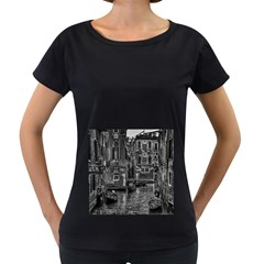Venice Italy Gondola Boat Canal Women s Loose Fit T Shirt (black) by BangZart