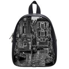Venice Italy Gondola Boat Canal School Bag (small) by BangZart