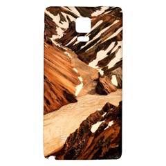 Iceland Mountains Snow Ravine Galaxy Note 4 Back Case by BangZart