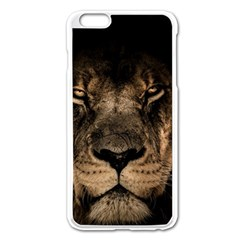 African Lion Mane Close Eyes Apple Iphone 6 Plus/6s Plus Enamel White Case by BangZart