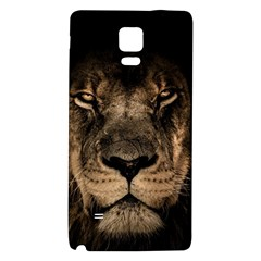 African Lion Mane Close Eyes Galaxy Note 4 Back Case by BangZart