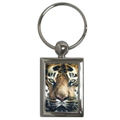 Tiger Bengal Stripes Eyes Close Key Chains (rectangle)  by BangZart