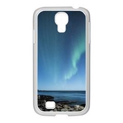 Aurora Borealis Lofoten Norway Samsung Galaxy S4 I9500/ I9505 Case (white) by BangZart