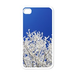 Crown Aesthetic Branches Hoarfrost Apple Iphone 4 Case (white)