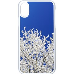 Crown Aesthetic Branches Hoarfrost Apple Iphone X Seamless Case (white) by BangZart
