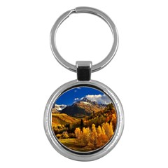 Colorado Fall Autumn Colorful Key Chains (round)  by BangZart