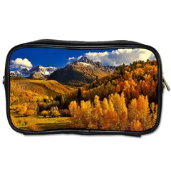 Colorado Fall Autumn Colorful Toiletries Bags by BangZart