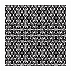 Asterisk Black White Pattern Medium Glasses Cloth (2 Side) by Cveti
