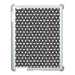 Asterisk Black White Pattern Apple Ipad 3/4 Case (white)