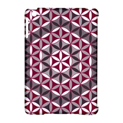 Flower Of Life Pattern Red Grey 01 Apple Ipad Mini Hardshell Case (compatible With Smart Cover) by Cveti