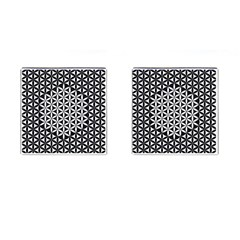 Flower Of Life Pattern Black White 1 Cufflinks (square) by Cveti