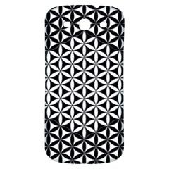 Flower Of Life Pattern Black White 1 Samsung Galaxy S3 S Iii Classic Hardshell Back Case by Cveti