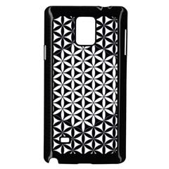 Flower Of Life Pattern Black White 1 Samsung Galaxy Note 4 Case (black)