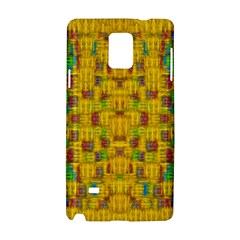Rainbow Stars In The Golden Skyscape Samsung Galaxy Note 4 Hardshell Case by pepitasart